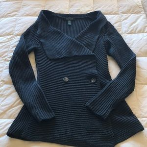 Ralph Lauren cardigan wrap in charcoal gray